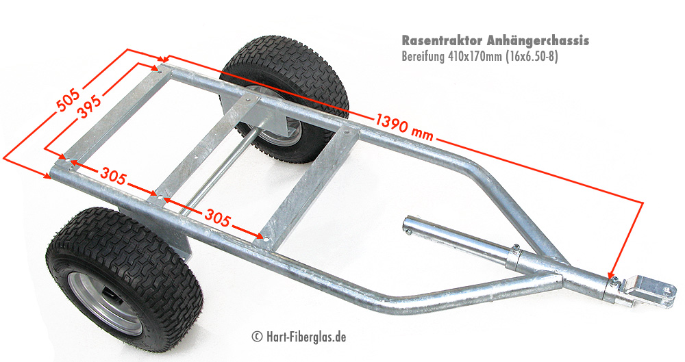 chassis f r anh nger f r aufsitzm her transportanh nger. Black Bedroom Furniture Sets. Home Design Ideas