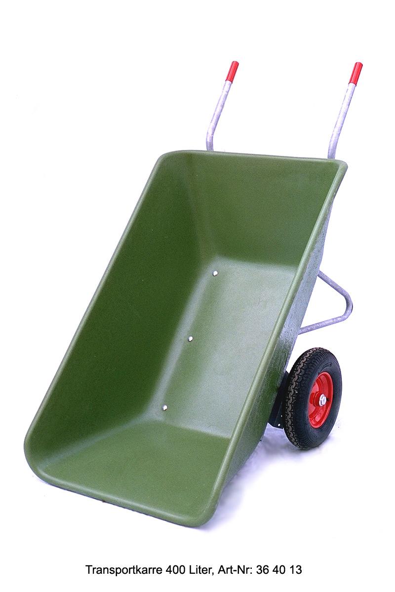 schubkarre mit zwei r dern futterkuli 400 liter. Black Bedroom Furniture Sets. Home Design Ideas